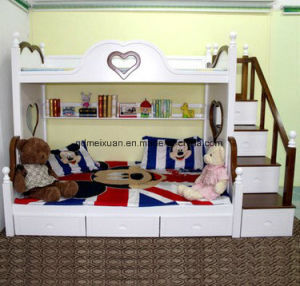 American Children Bed up and Down Adult Solid Wood Bunk Bed Multi-Functional High Machine Tool Bed (M-X3797) pictures & photos