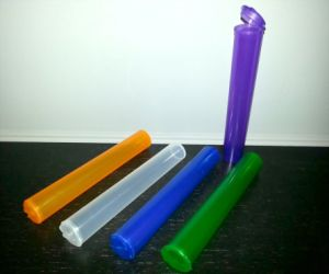 Hinged Lid Cigarette Plastic Dood Weed Joint Container Pre-Rolled J Tube pictures & photos