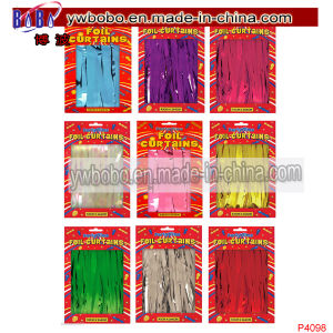 Foil Party Door Curtain Tinsel Birthday Wedding Decorations Supplies (P4098) pictures & photos