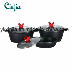Aluminum Nonstick Soup Pot Cookware Set with Glass Lid pictures & photos