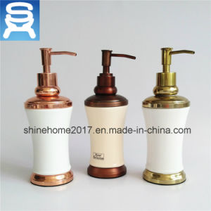 Single Manual Chrome Plating Bathroom Liquid Soap Dispenser pictures & photos