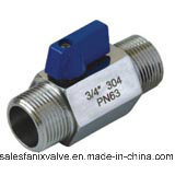 Mini Ball Valve with External Screw Thread