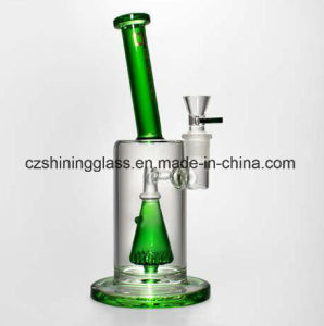 Shining Glass Smoking Water Pipe with Triangle Perc pictures & photos