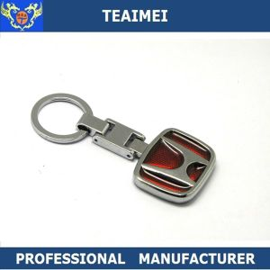 Custom Chrome Car Logo Shape Zinc Alloy Keyring Metal Keychain