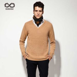 ODM Wool Blend Pure Colour Pullover Knitwear pictures & photos