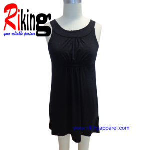 Fashion Ladies Garment Pleated Dress (RKD1380)