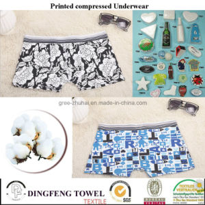 2016 Promotional Gift Compressed Traveling Printed Underwear Df-2027 pictures & photos