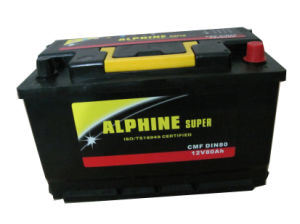 Car Battery DIN80 Mf/ Maintenance Free Car Battery pictures & photos