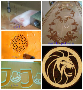 Wood Leather Cutter 1.5*1m CNC Waterjet Cutting Machine with ISO, CE, SGS pictures & photos