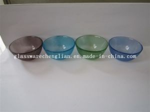 Various Solid Colors &Designs of Machine-Made Glass Bowl (P-025) pictures & photos