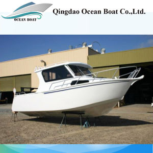 7.5m Lifestyle Europe Design Professional Fishing Trawler Boat with Outboard Engine