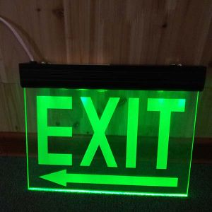 image regarding Printable Exit Signs identified as Wall Fastened Unexpected emergency Escape Battery Backup Printable Exit Indications (DSL007BM)