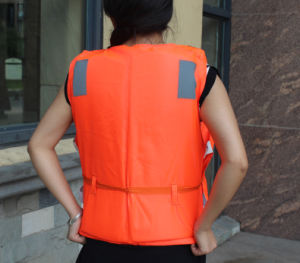 Certificates Polyester Fibre Lining Solas Standard Lifejacket Life Vest EPE Foam for Sale