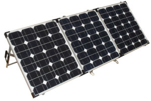 200W Folding Solar Panel with Supporting Legs for Camping pictures & photos