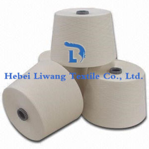 Polyester Yarn Raw White for Weaving and Knitting Single Yarn