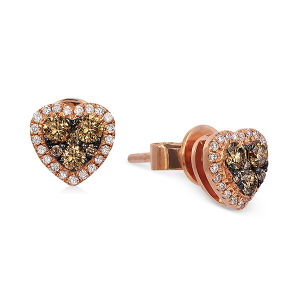 Heart Shape Stud Earrings 925 Silver Jewelry with Gemstone pictures & photos