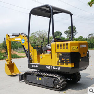 Small-Scaled Crawler Hydraulic Crawler Excavators with Rubber Track