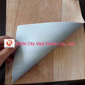 Embossed Surface Sponge Foam Backing PVC Flooring pictures & photos