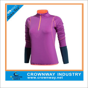 Custom Long Sleeve Running Wear Tops Ladies Sports Tops Design pictures & photos