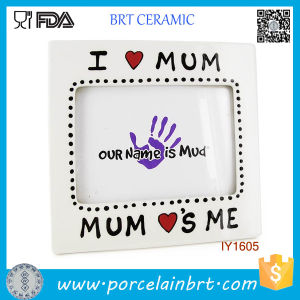 Hot I Love Mum Decoration Ceramic Love Photo Frame pictures & photos