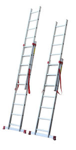 Aluminium Tool Stool Scaffold Work Platform Fold Household Multipurpose Extension Telescopic 2 Section Ladder with CE/En 131 8.64m
