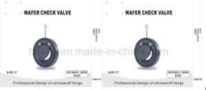 PVC Wafer Check Valve (DIN, ANSI Socket) pictures & photos