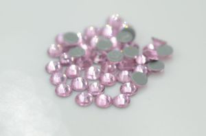 Aaaaa High Quality Flat Back Hot Fix Rhinestone  Strass Ss4-40 Light Rose Rhinestone