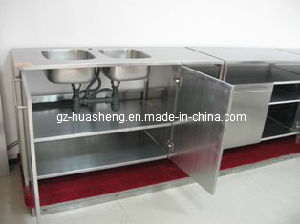 Metal Kitchen Cabinet with Wash Sink (HS-028) pictures & photos
