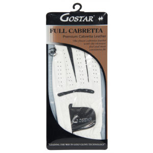 Pear White Cabretta Golf Glove in Plastic Sleeve pictures & photos