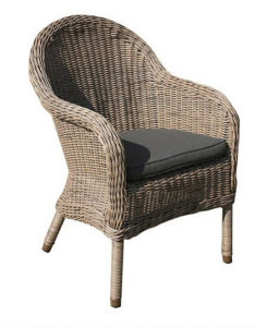 Wicker Rattan Outdoor Dining Arm Chair