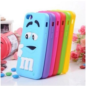 Cute M&M Chocolate Mobile Phone Case for iPhone4s 5s