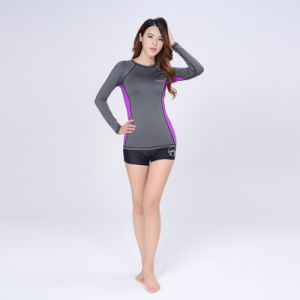 Woman′s Long Sleeve T-Shirt Slimming Gym Yoga Clothes