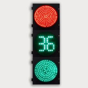 300mm LED Red Green Countdown Timer Traffic Lights