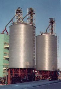 Wavy Surfaces with Steel Silo