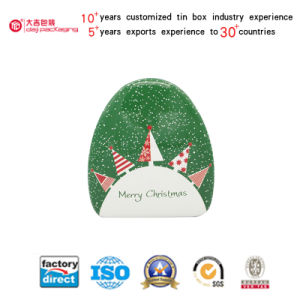 Christmas Circle Triangle Shaped Tin Box for Candy Packaging