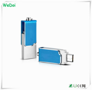 Mini Swivel OTG USB Flash Disk with 1 Year Warranty (WY-pH06) pictures & photos