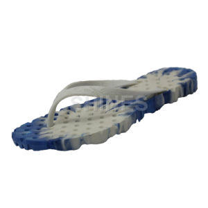 White and Blue Blown PVC Bath Slippers