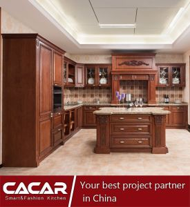 China Best Ing Europe Style Solid Wood Kitchen Cabinets