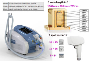 Wholesale Products 3 Wavelengths Diode Laser 755/808/1064nm pictures & photos