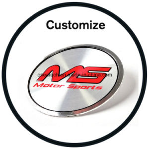 Custom Metal Logo Stickers pictures & photos