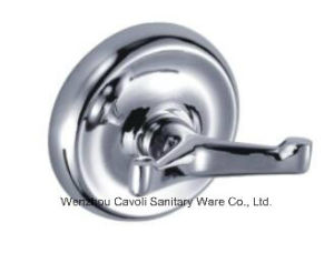 Bathroom Zinc Chrome Metal Wall Robe Hook
