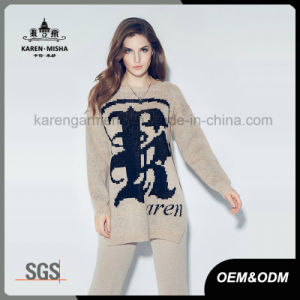 Karen Women Fashion Oversized Logo Patterned Pullover Sweater pictures & photos