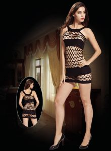 Fishnet Babydoll with Hollow out Design 8944 pictures & photos