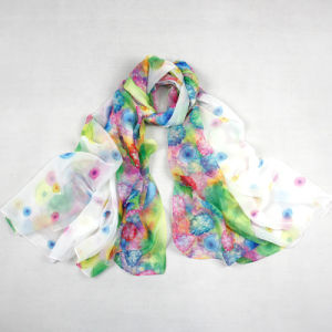 Anti-UV 100% Microfiber 30d Chiffon Printing Beach Multifunctional Shawl Scarf