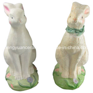 Animal Shaped Porcelain Rabbit, Easter Rabbit pictures & photos