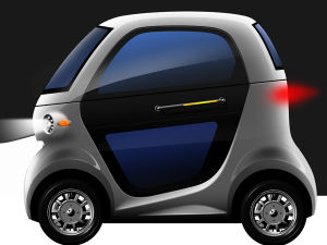 4 Wheel Two Seater Low Speed Electric Car Mobility Scooter Light Weight pictures & photos