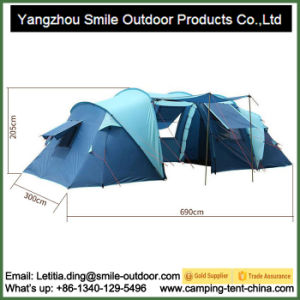 Removable Vestibule 6 Man 2 Room Family Camping Event Tent pictures & photos