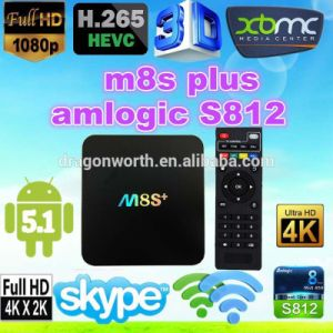 2016 More Popular M8s Plus Android TV Box 1g 8g WiFi Android 5.1 Amlogic S905 4k 1000m Smart TV Box pictures & photos