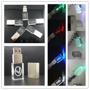 1GB/2GB/4GB/8GB/16GB/32GB/64GB Customized 3D Laser Logo Crystal USB Pen Drive pictures & photos