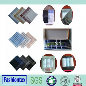 Wholesale Cotton Custom Ladies and Mens Handkerchief pictures & photos